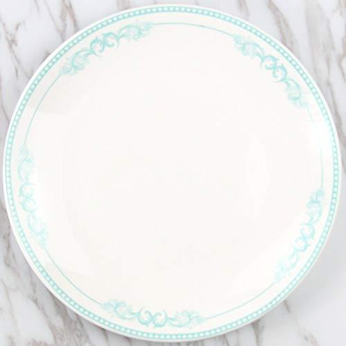 DJY-JY Plato de cerámica creativo de dibujos animados nórdicos occidentales plato de pastel restaurante carne plato postre desayuno plato blanco 20,5 cm