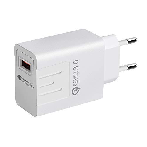 HSKB USB Ladegerät Schnelles Ladeadapter Desktop Ladestation Dockingstation Charge Reiseadapter mit iSmart Technologie Netzteile Smart Lade für iPhone für Samsung Galaxy MP3 usw EU-Stecker (Weiß)