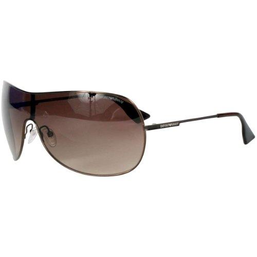 Big Sale Emporio Armani 9757/S Men's Navigator Full Rim Lifestyle Sunglasses - Brown/Brown Gradient / Size 99/01-125