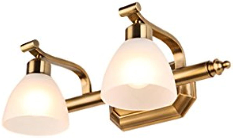 Badspiegel-Lampen, Wand-Anzeigen-Beleuchtung Badezimmer Spiegel Vorne Lichter, Spiegel Schrank Licht Make-up Lampe - Retro europischen Stil Bild Display Wandleuchten - E14 - Mattglas Schatten - ohne