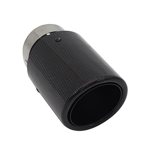LinYom Coche Brillante Fibra De Carbono Muffler Tip System Sistema De Escape...