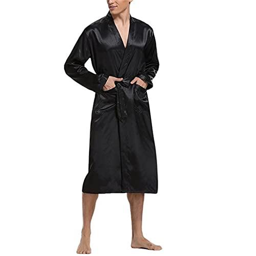 ZYING Albornoz Absorbente De Color Sólido para Hombre, Albornoces De Talla Grande, Pijamas para Hombre, Ropa para El Hogar para Hombre (Color : A, Size : XL Code)