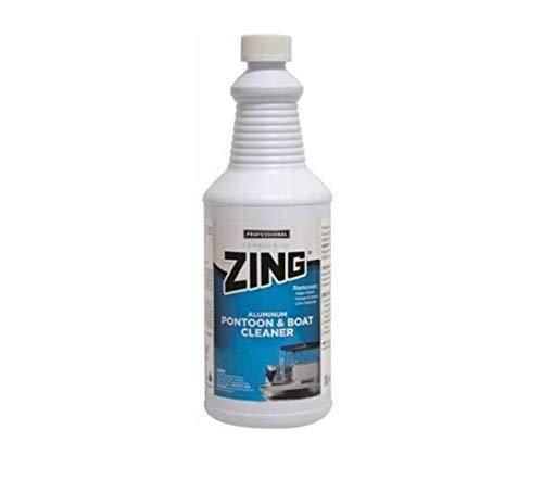 Zing 188 WHITE Professional Aluminum Pontoon & Boat Cleaner (1 quart), 32. Fluid_Ounces