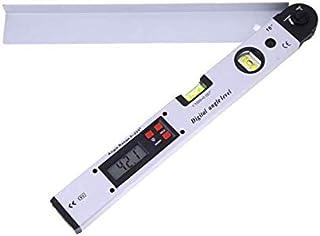 مسطرة قياس بطول 400 مم رقمية بزوايا 0-225 درجة بقياسات إلكترونية مزدوجة بمقياس دوال سبيريت ليفل