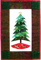 Foundation Paper Piecing Trim The Tree III Pattern - 3 Difference Sizes in One -