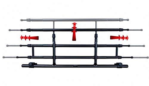 G3 PKW Hunde Transport Gitter, Gepäck Schutzgitter, 85-140 breit, 26-46 hoch, Kopfstützen Montage, Trenngitter