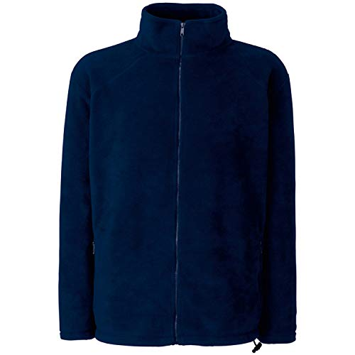 Fruit of the Loom Herren Full Zip Fleece Sweatshirt, Blau (Deep Navy), X-Large