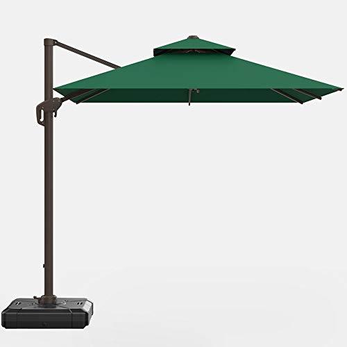 Generic002 Paraguas de balcón al Aire Libre, 360 ° rectángulo rotativo jardín Parasol sombrilla Grande Paraguas para terraza al Aire Libre jardín balcón Playa Villa jardín Paraguas Romano (Color : A)