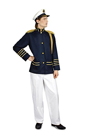 Karneval-Klamotten Kapitän-Kostüm Herren Sakko Hose Seemann Uniform Marine Fasching Herrenkostüm Kapitänsjacke und Hose