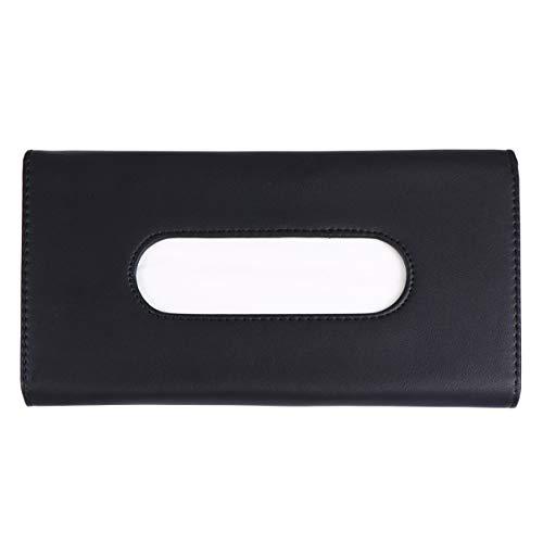 BESPORTBLE Auto Tissue Box Auto Visier Taschentuchhalter Fall Pu Leder Headset Rücksitz Serviette Container Organizer für Auto Fahrzeug Schwarz