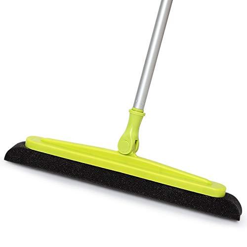 Soft Setole Magic Pulire la Spazzatura Sponga Spagna Broom Pet Hair Rimozione Lint Device Telescopico Termegeo Brusco Briscole Push Push Groom (Color : Green)