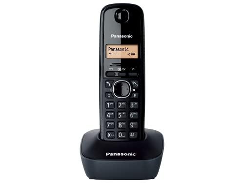 Oferta de Panasonic KX-TG1611SPH - Teléfono Fijo Inalámbrico DECT, LCD, Identificador de Llamadas, Agenda de 50 Números, Tecla de Navegación, Alarma, Reloj, color Negro