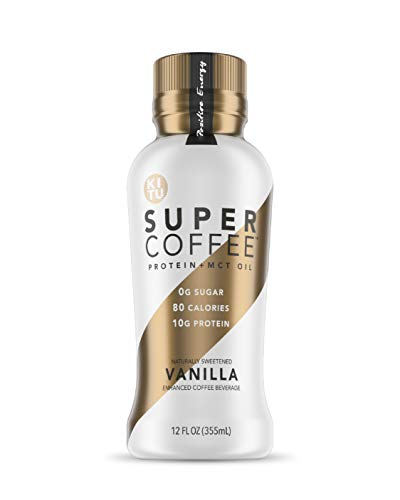 Kitu Super Coffee, Iced Keto Coffee (0g Added Sugar, 10g Protein, 70 Calories) [Vanilla] 12 Fl Oz, 12 Pack | Iced Coffee, Protein Coffee, Coffee Drinks - LactoseFree, SoyFree, GlutenFree