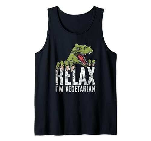 Dinosaurier Veganer Rohkost Vegetarier Tank Top