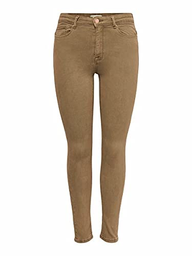 ONLY Female Skinny Fit Jeans ONLPaola Life HW Ankle S32Toasted Coconut