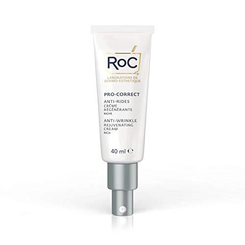RoC - Retinol Correxion Pro-Correct Crema Rejuvenecedora Rica - Antiarrugas y Antiedad - Crema Facial con Retinol y Ácido Hialurónico - 40 ml