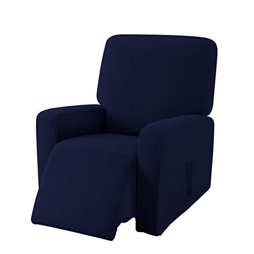 E EBETA Jacquard Funda de sillón, Capuchas elásticas para sillón, Elástico Funda para sillón reclinable (Azul Oscuro)