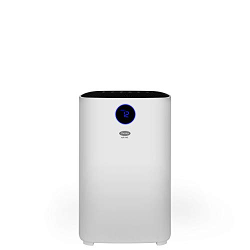 Carrier Air One Room Air Purifier with 3 Stage Filtration, PM2.5 Display and Color Indicator (260 CADR, Room Size Upto 300 sq ft with 3 Air Changes/Hour.)