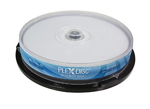 PlexDisc BD-R XL, 10 STK, 8X, 100GB, für Tintenstrahldrucker, weiß