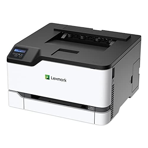 Lexmark CS331dw Laser Printer - Color - 26 ppm Mono / 26 ppm Color - 600 dpi Print - Automatic Duplex Print - Wireless LAN, White/Gray, Medium (40N9020)
