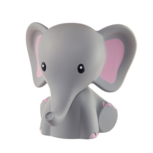 MyBaby Nightlight Comfort Creatures, Portable and Bedside Night Lamp, 5 Colour Changing LEDs and Auto Timer, Helps Your Child Feel Safe and Comfort in the Dark - Elephant