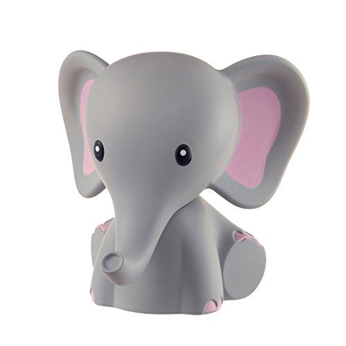 MyBaby Nachtlicht Elefant, Einschlafhilfe, Spielzeug, Nachtlicht, Nachttischlampe, Einschlaflicht für Babys und Kleinkinder mit 5 verschiedenen LED Farben und Timerfunktion