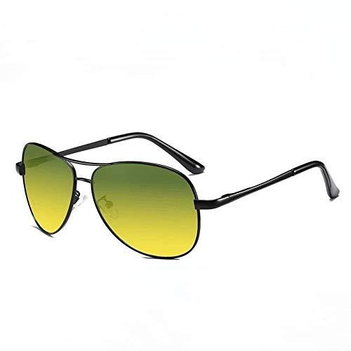 XXBFDT Hombre Gafas De Sol Deportes Polarizado - Gafas de sol de visión nocturna de polarización de carga-Caja negra día y noche.