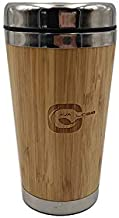 AVAGLOBE Bamboo Stainless Steel Bottle Coffee Mug Insulated Bamboo Travel Tumbler Eco-Friendly Tea Cup Flask 16 oz(450ml)