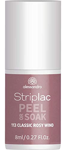 alessandro Striplac Peel or Soak Classic Rosy Wind – LED-Nagellack in klassischem Taupe – Für perfekte Nägel in 15 Minuten – 1 x 8ml