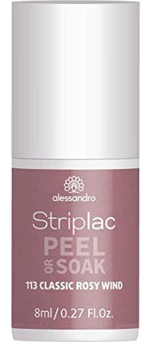 alessandro Striplac Peel or Soak Classic Rosy Wind – LED-Nagellack in klassischem Taupe – Für...