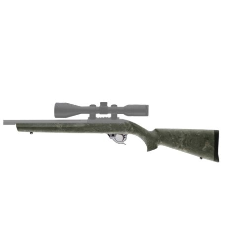 Hogue Rubber Over Molded Stock for Ruger, 10-22 with .920-Inch, Gillie Green