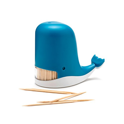 Peleg Design Jonah Toothpick Holder, Whale Toothpick Dispenser, Funny Portable Plastic Toothpick Holder, Unique Gift Idea
