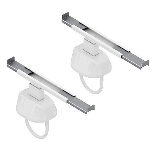 2 radiatorhaken - beugels om aan de radiator te bevestigen - past zich aan elke radiatorgrootte en elk type plank aan - voor buisvormige radiator