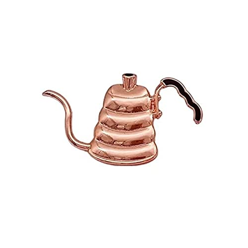ヴィンテージティーブローチコーヒーメーカーミルクコーヒーティーカップハンドリンスフィルターアートジュエリーエナメルピンバッジ