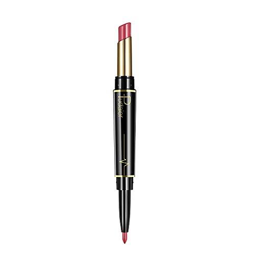 VJGOAL Neue Doppelkopf Lippenstift Lippenzwischenlage Matt Lippenstift 16 Farbe Stilvoller Auftritt