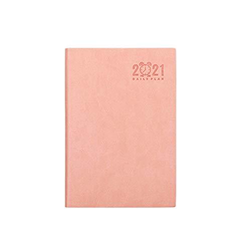 LXX Diarios 2021 Planner - Planificador semanal y mensual 5.6'x 8.3' enero 2021-dict 2021 Oficina en casa usando blocs y Cuadernos de Notas (Color : Pink, tamaño : A5)