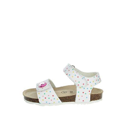 Grunland SB1719-L5 Sandalo Bambina Bianco/Fuxia 27