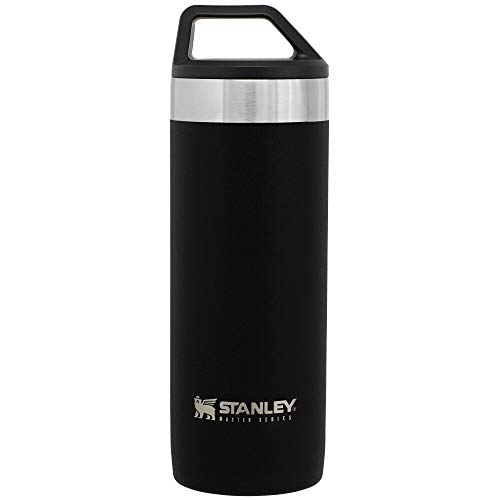 Stanley Unbreakable Packable Mug 0.53L / 18OZ Foundry Black – Lekvrij | Vacuüm geïsoleerde thee en koffie reismok | Roestvrijstalen thermosbeker houdt 16 uur warm | BPA-vrij | Vaatwasserbestendig