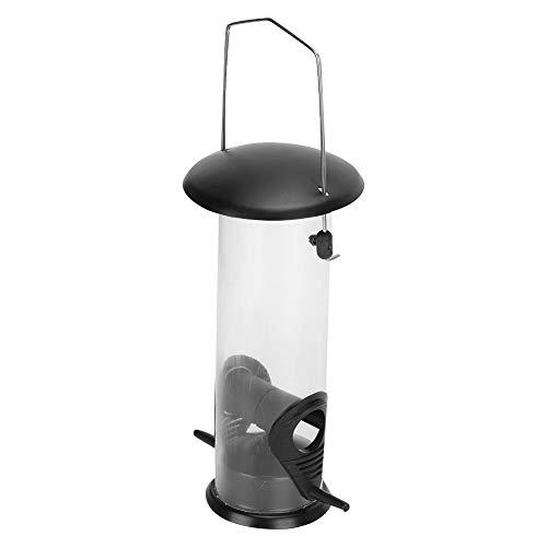 FILFEEL Wellensittich-Fütterungsbehälter mit hängendem Ring Balkon-Vogelfütterung, Vogelhäuschen, automatisch für Vogel für für Starling Nymphensittiche