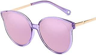 SGJFZD Ladies New Fashion Polarized Sunglasses Outdoor Seaside Sunscreen UV400 Trendy Polarized Sunglasses Large Frame Elegant Sunglasses Quality Polarized Sunglasses (Color : Purple)