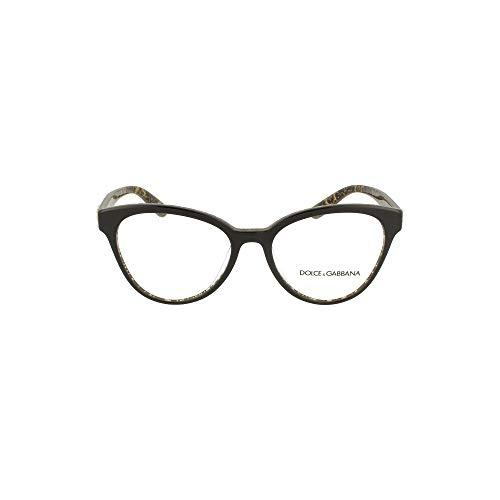 Dolce & Gabbana PRINTED DG 3320 BLACK GOLD DAMASCO 53/17/140 women eyewear frame