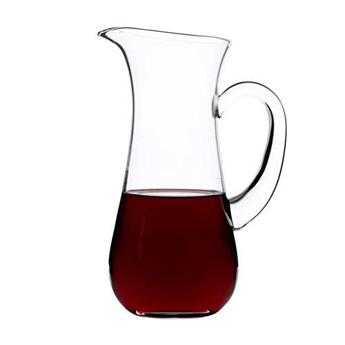 Décanteur, Soufflé à La Main en Verre Cristal Sans Plomb Aérateur de Vin, Cristal Pour Bec Verseur, Carafe de Vin Rouge, Vin Cadeau, Accessoires Pour Le Vin, Détient Vin 1000ML - Cadeau Parfait