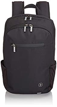 Wenger Luggage CityFriend Padded Laptop Backpack with Lockable Zippers Black 16-inch