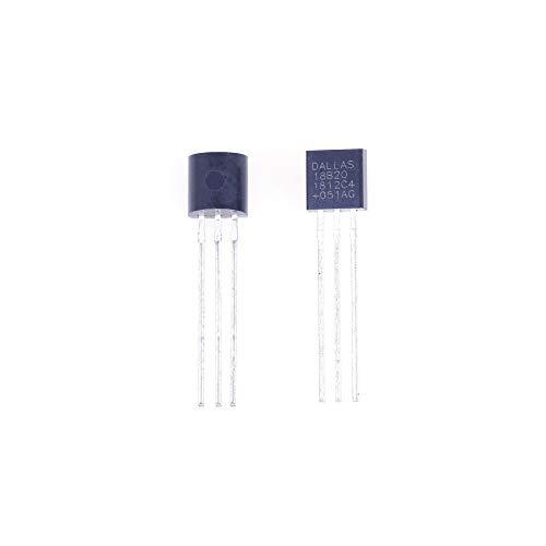 ANGEEK 5 Stück DS18B20 digitaler Temperatursensor TO92-55°C - +125°C für Arduino, Raspberry Pi