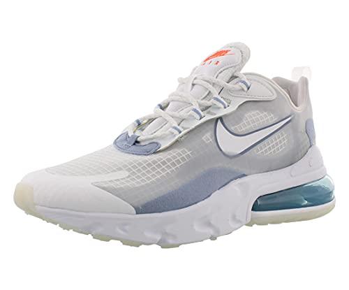 Nike Air Max 270 React SE, Sneaker Uomo, Bianco Bianco Puro Platinum Indaco Nebbia, 41 EU