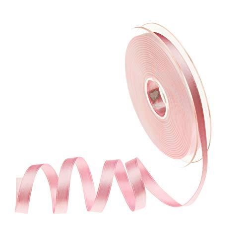 Sirene Doppio Raso Made in Italy Bobina 25 Metri Alta qualità (Rosa, 10)
