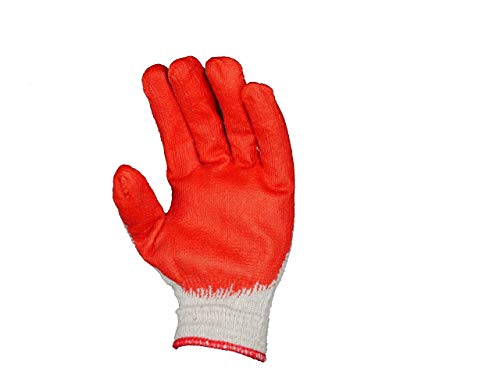 PlexGlove String Knit Red Palm Gloves, Large (30, Large)