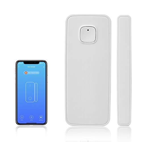 WiFi Door Sensor, Smart Door Window Sensor, Window Contact Sensor with App Compatible with Alexa Google Assistant, Voice Control, Sends Alerts, Wireless Remote Alarm