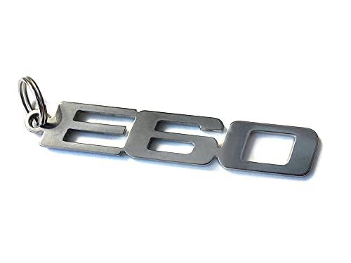 E60 emblème porte-clés en acier inoxydable de haute qualité