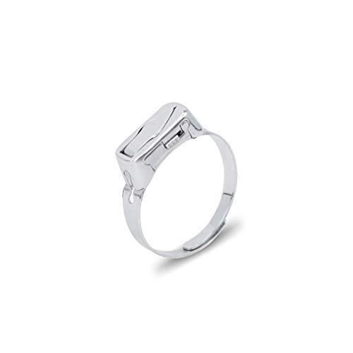 Anillo de personalidad multifuncional, anillos abiertos ajustables de acero inoxidable con herramienta oculta para amantes, amigos, vida diaria